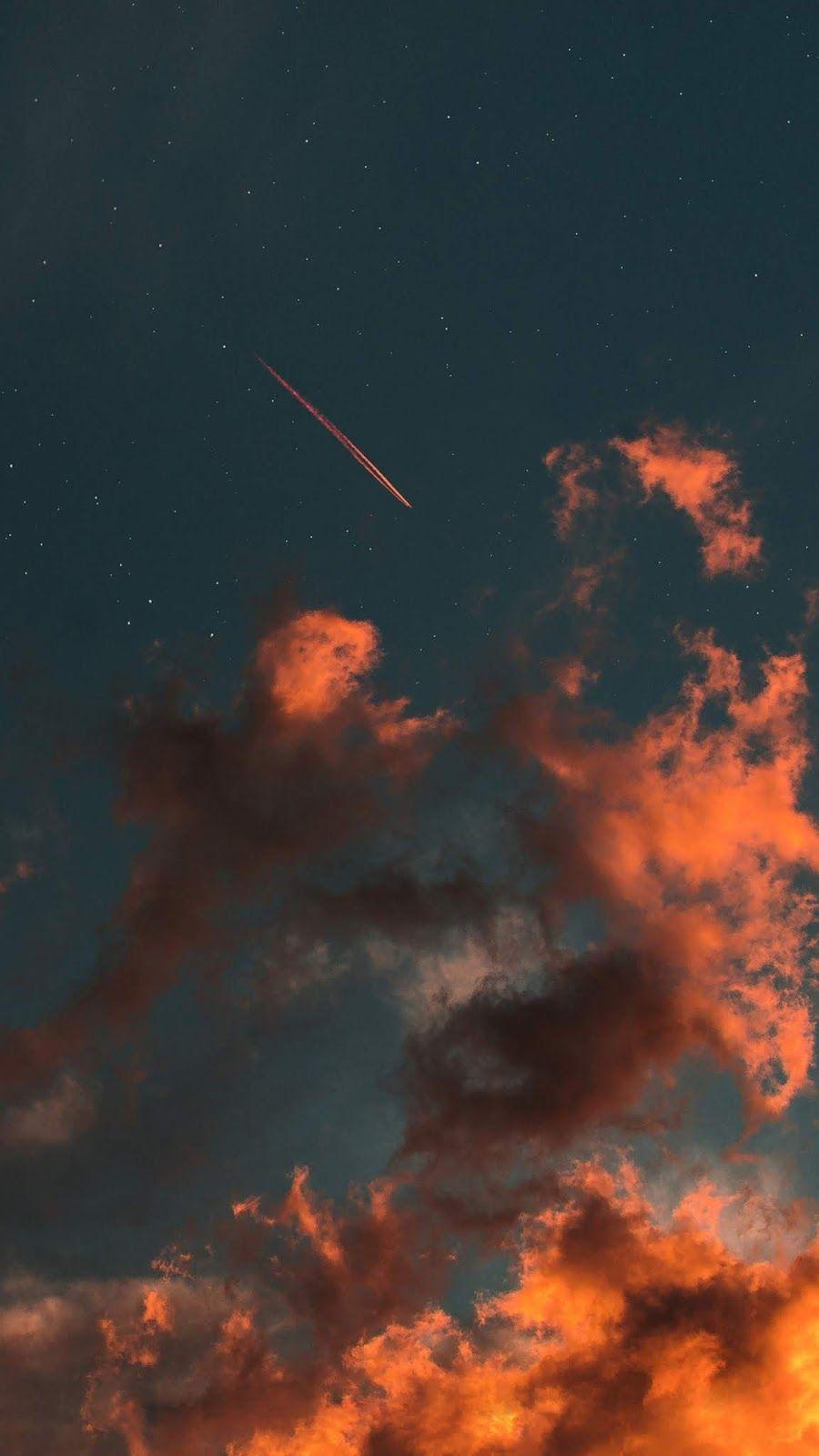 Star fall in the sky