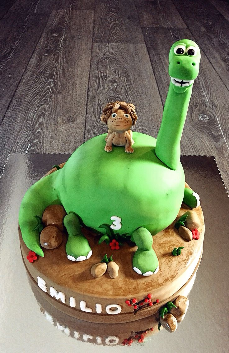 Good Dinosaur Cake Decorations : The Good Dinosaur Disney Pixar movie cake MarlynsCakes ...