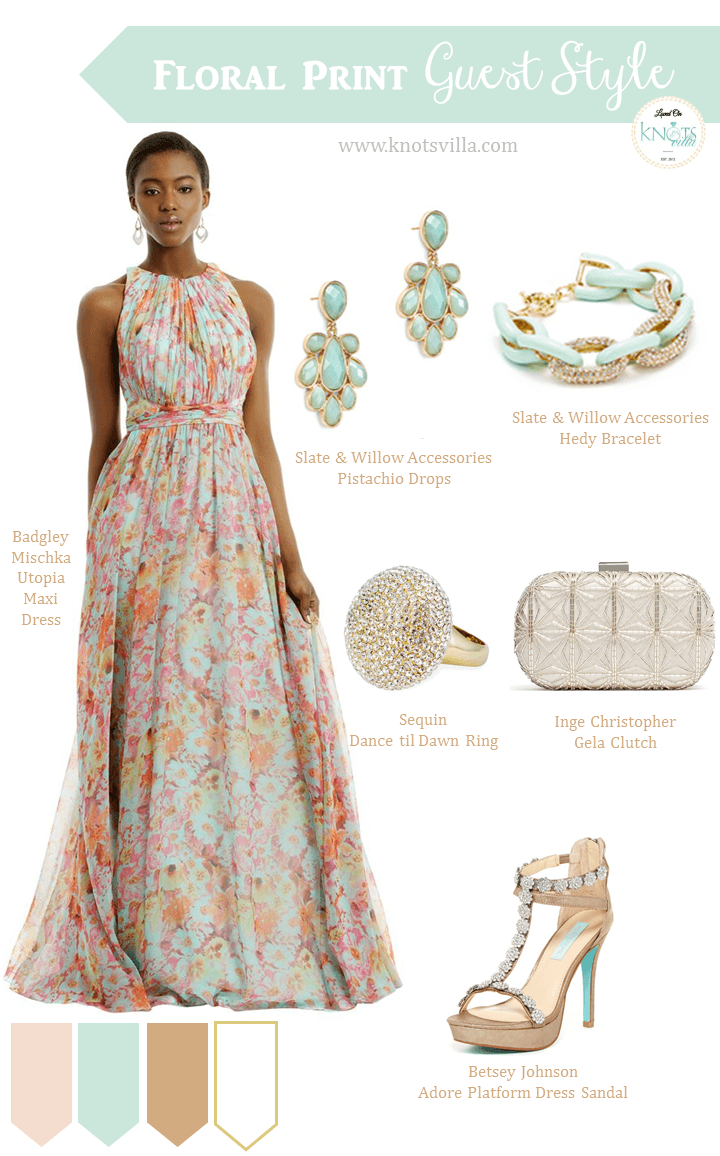 Floral print wedding dresses  Maxi Floral Print Wedding Style  Guest Styling  Creative Wedding