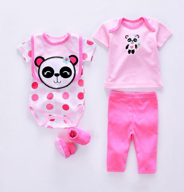 X82845A al por mayor 100% del bebé del algodón ropa 5 unids conjunto  mameluco del bebé recién nacido Niño romper-imagen-Sets de ropa para ... 6b664b12300a