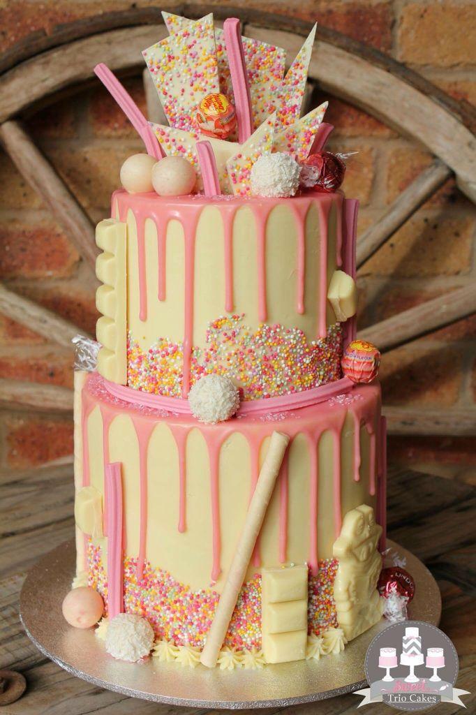 Pink drip cake torten backen und dekorieren pinterest for Pinterest kuchen