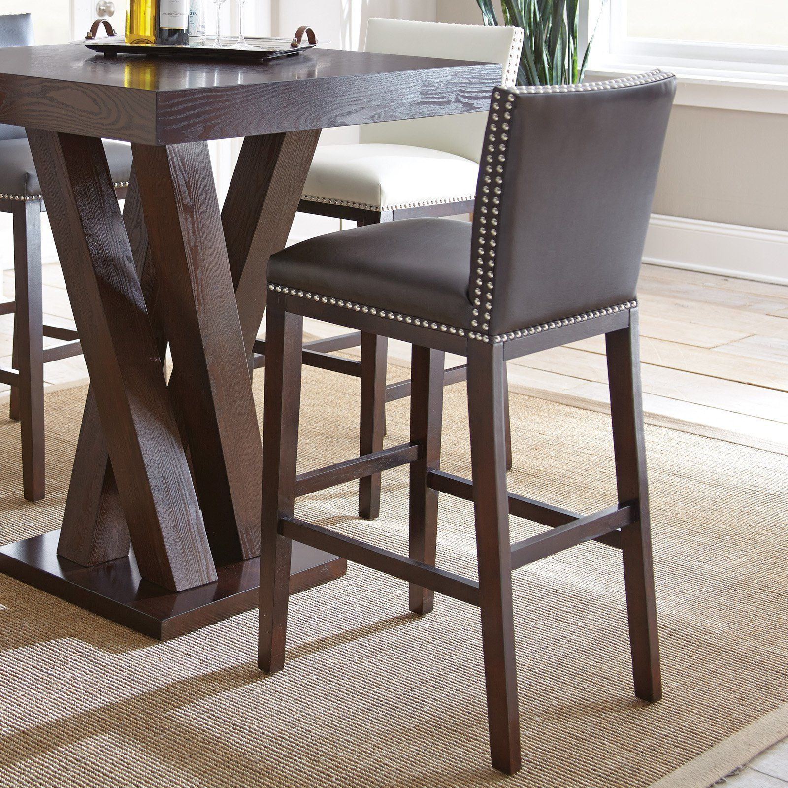 Steve Silver Tiffany Bonded Bar Chair Set Of 2 From