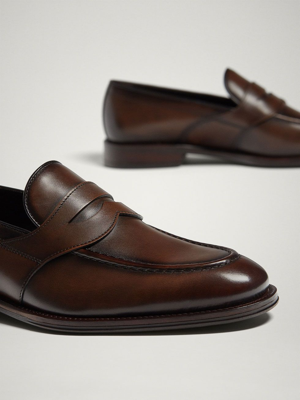 c037661151737 Brown leather penny loafers in 2019 | Лоферы | Loafers men, Loafers ...
