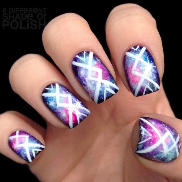 Tribal Nail Art Designs Tribal Nail Nailart Nails Tribalnail Fashion Style Girl Naildesigns In 2020 Tribal Nails Galaxy Nail Art Nail Designs