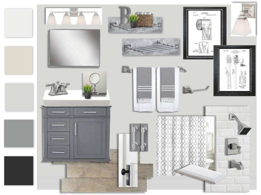 Historic Home Seeks Updated Yet Timeless Bath Made With Sampleboard Software Www Sampleboard Com Interior Design Boards Historic Home Home