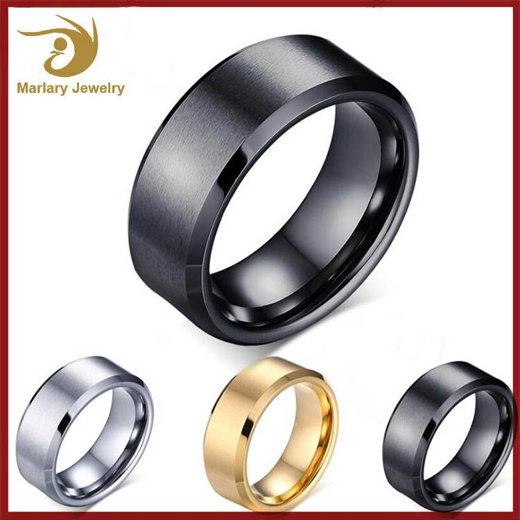 Wholesale Tungsten Mens Jewelry Ring, Simple New Design Gold ...