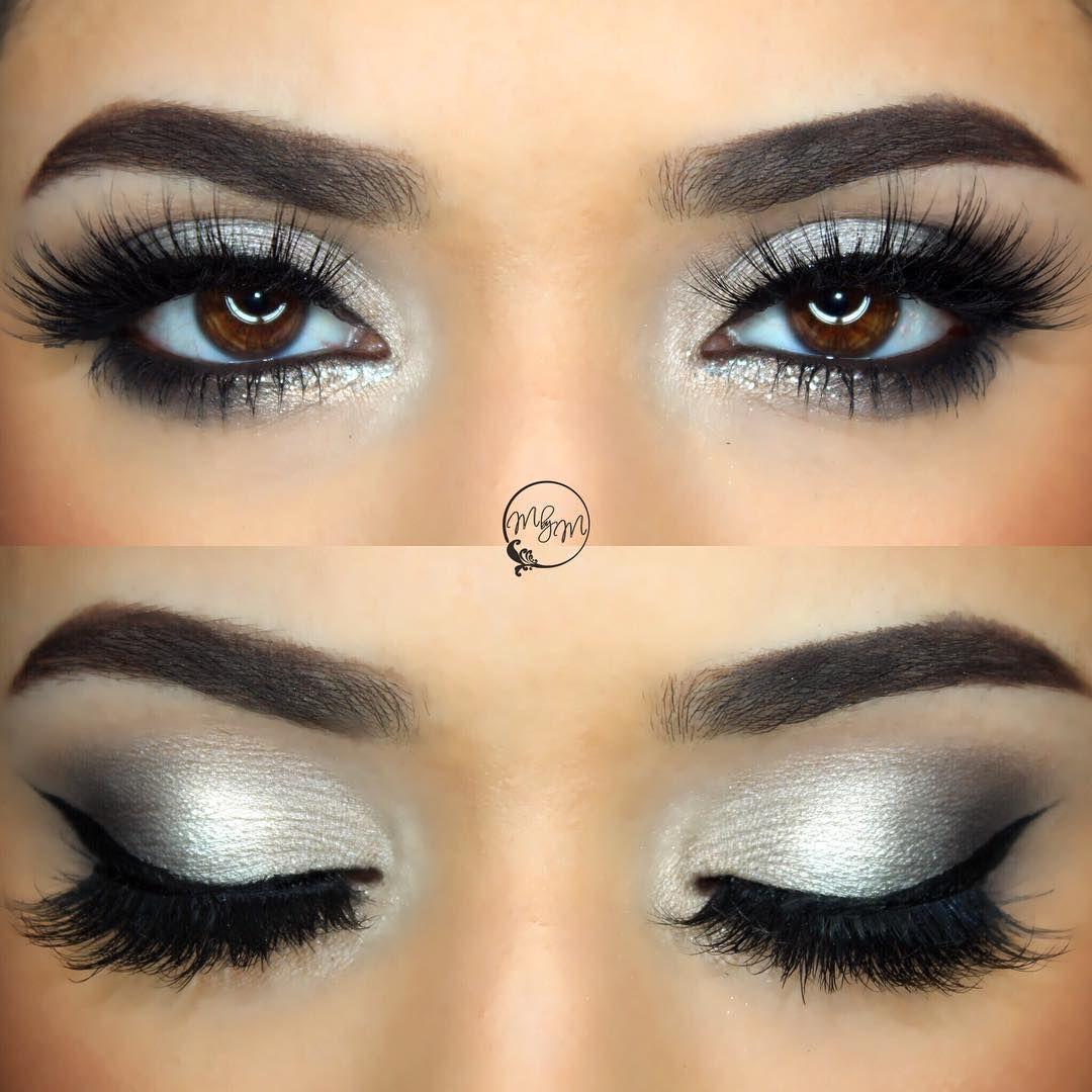 subtle glitter for nye: silver + grey smokey eye