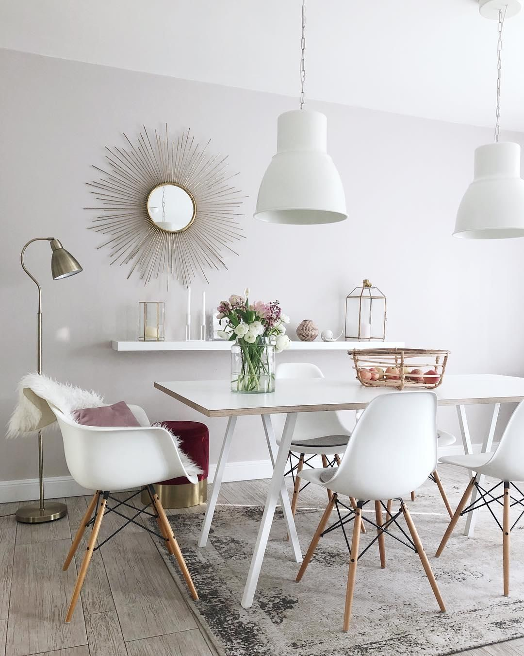 Interior Esszimmer We Love Sunburst Mirrors Die Dekorativen Sonnenspiegel In Gold