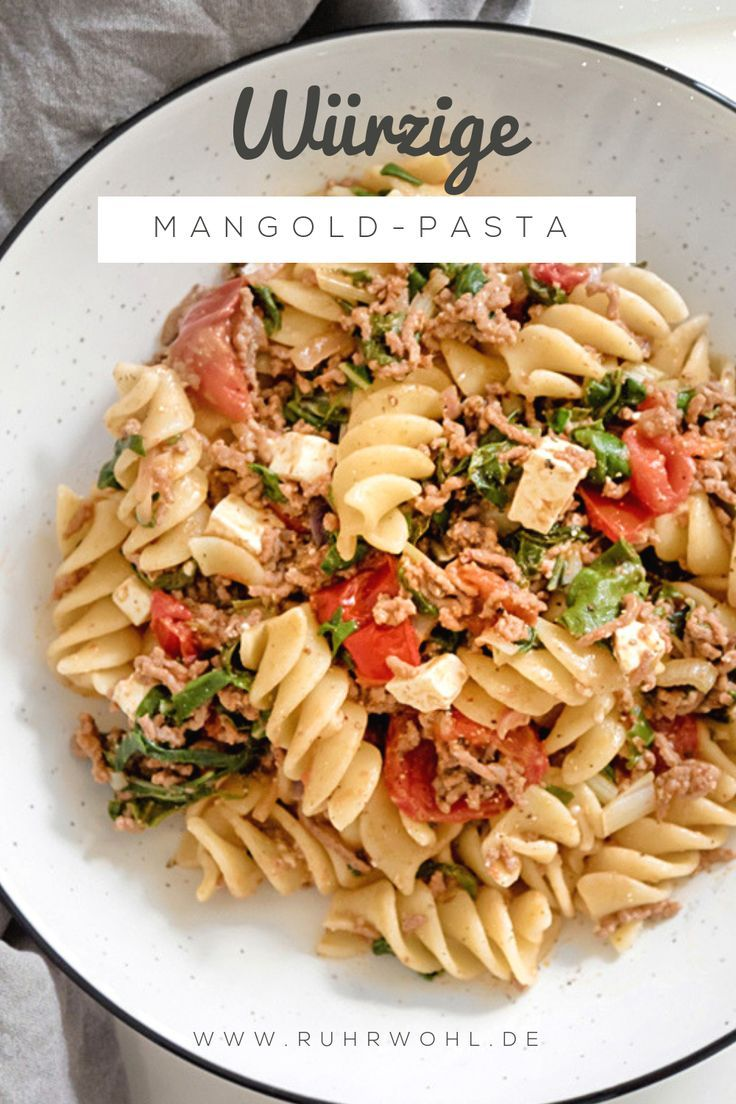 Photo of Summer kitchen: Prepare Swiss chard, pasta recipe with feta and tomatoes