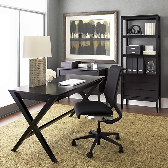Spotlight Ebony 48 Writing Desk Reviews Crate And Barrel