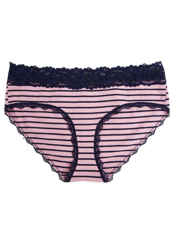 964a9051b1 Jessica Simpson Maternity Hipster Panties (Single)- Plum Navy Stripe ...