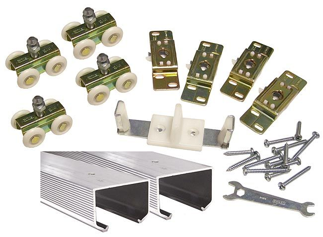 Stanley Dormakaba Usa Inc Bpc150n 00 72 Stanley 40 5666 72 1829mm Bypass Track Set 150lb Aluminum The Hardware Hut Barn Door Barn Door Hardware Making Barn Doors