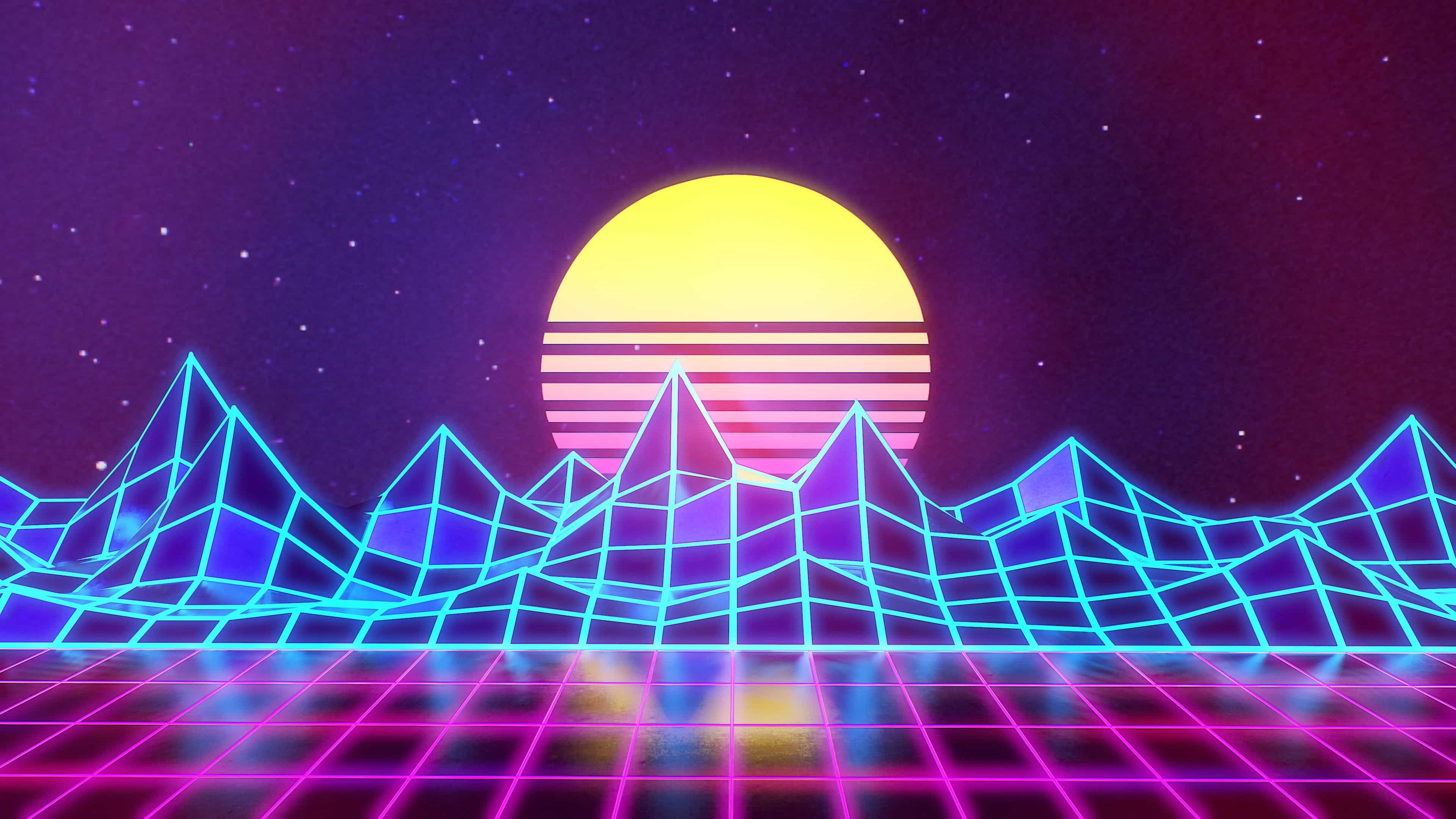Synthwave More Music To Jack In To Album On Imgur Vaporwave Wallpaper Synthwave Neon 80s Background