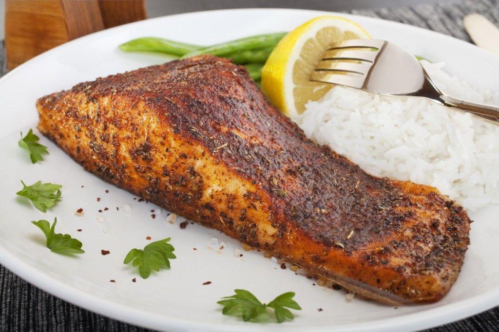 Cajun grilled salmon with dirty rice wild salmon recipes for Cajun fish recipes
