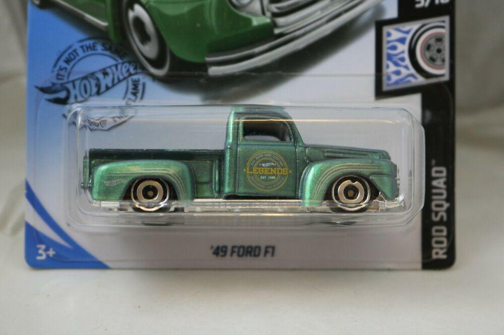 Hot Wheels Rod Squad 5/10 Ford 1949 green truck F1 NEW