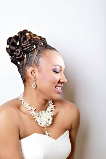 wedding updo flat twists