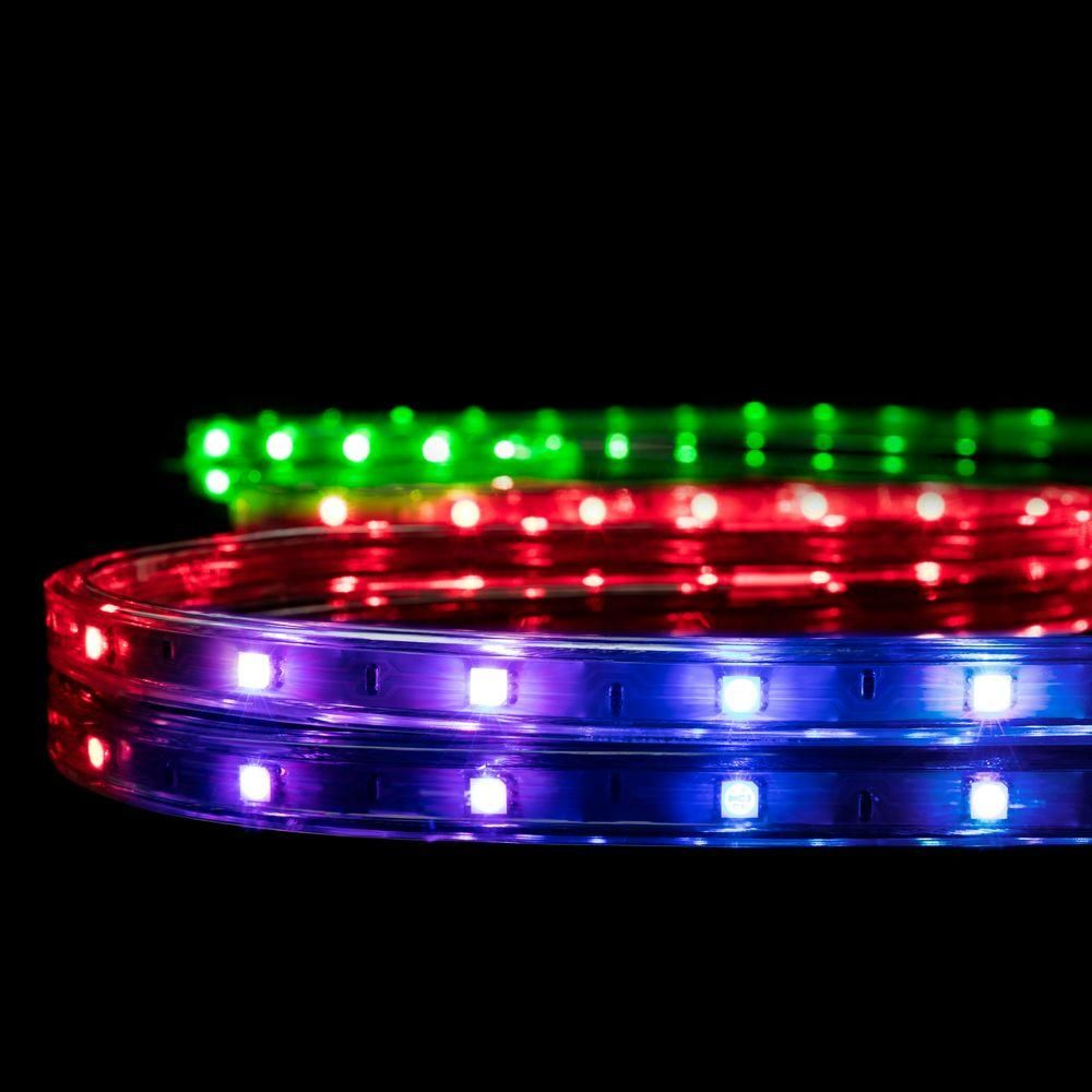 Led Strip Lights Home Depot Glamorous 164 Ftcolor Changing Rgb Led Strip Light 2 Pack  Rgb Led Strip