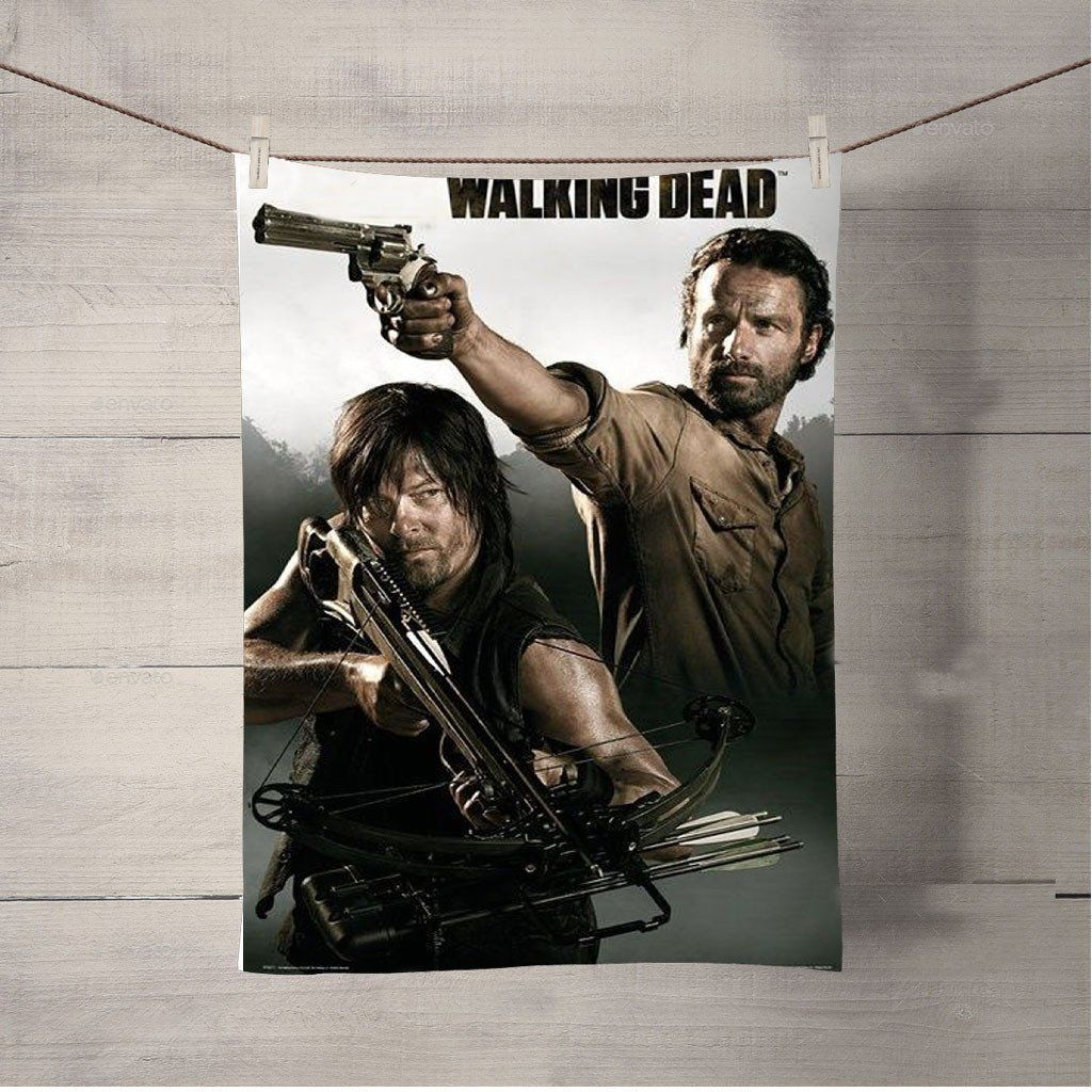Walking Dead Rick Daryl 2 Bath Towel Beach Towels The Walking