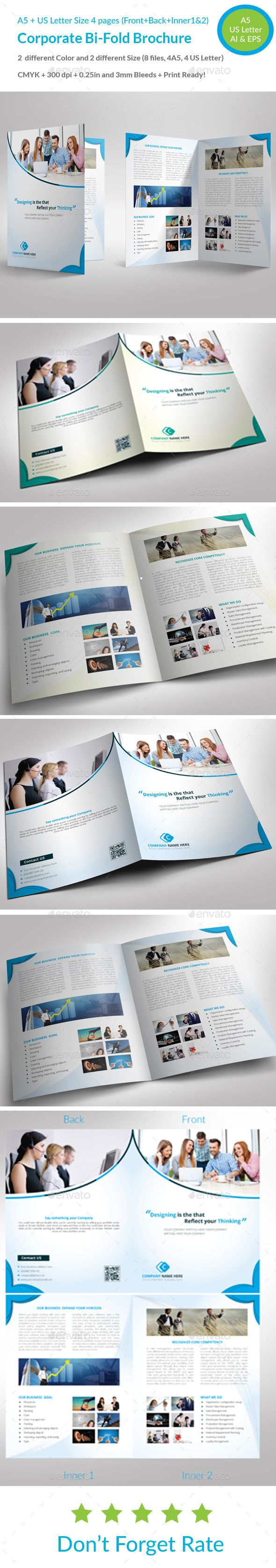 Corporate BiFold Brochure  Brochures Brochure Template And