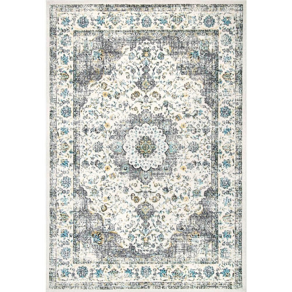 Nuloom Verona Grey 12 Ft X 15 Ft Area Rug Traditional Persian Rugs Area Rugs The Gray Barn