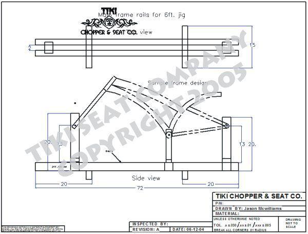 Bicycle frame jig PLANS Build custom chopper bike or ? | Bike frame ...