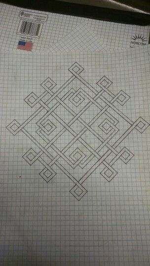 Celtic Knot On Graph Paper   Pinteres