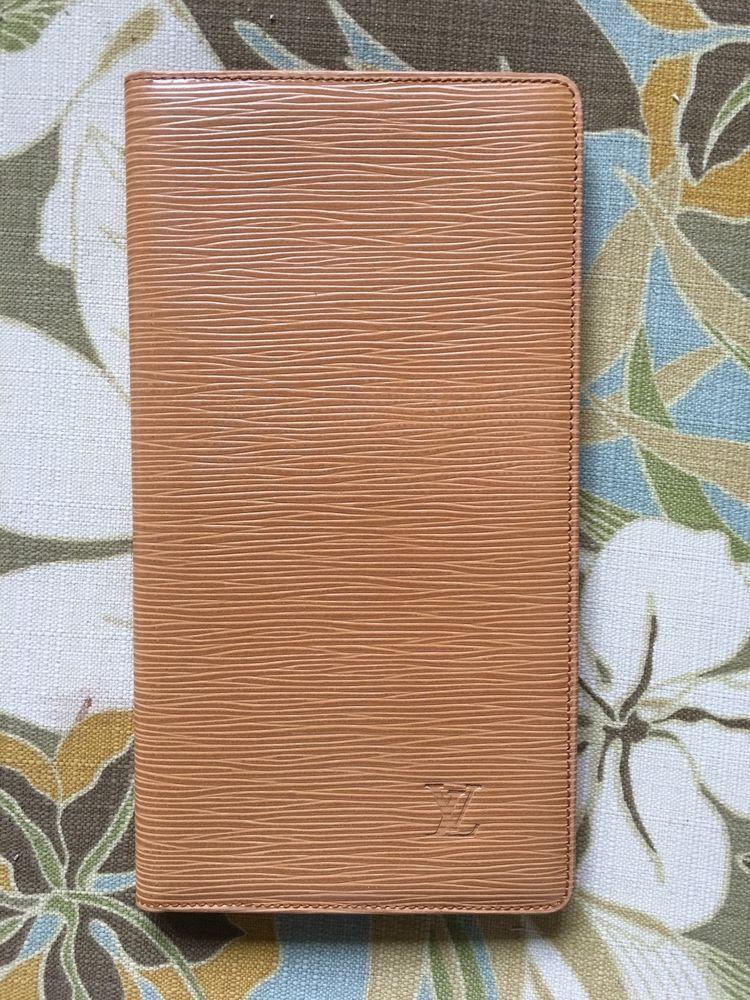 TAN LOUIS VUITTON EPI LEATHER BUSINESS CARD HOLDER Plastic Insert ...