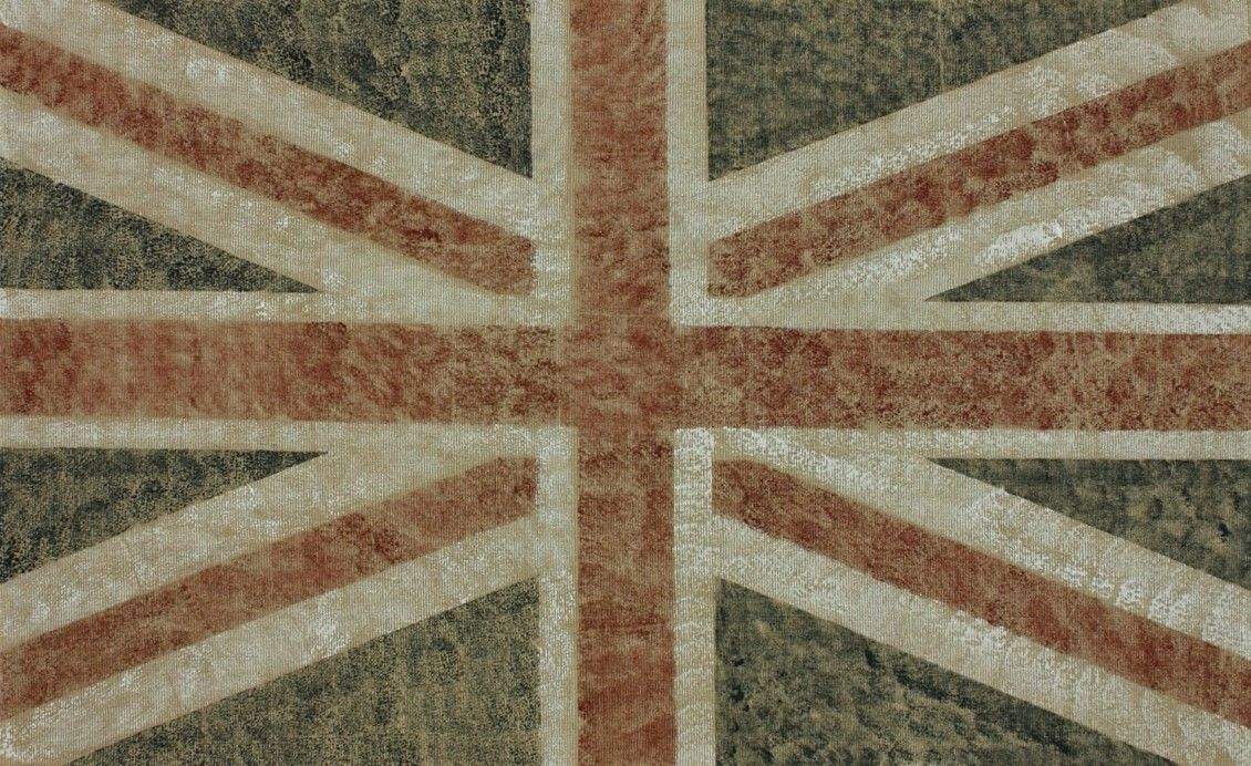 Natura Union Jack Blue Stripes Area Rug This Flag Makes A Ful Geometric Statement And The