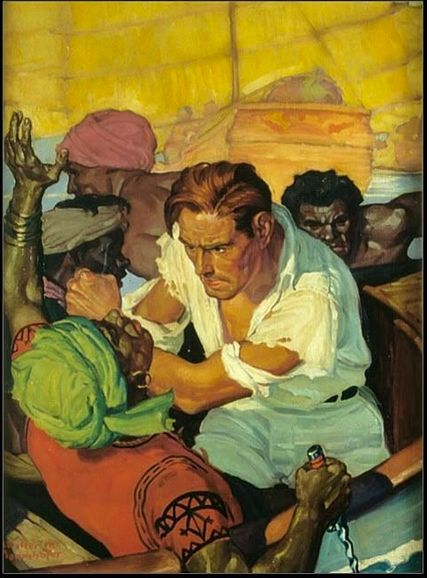 WALTER MARTIN BAUMBOFER - art for May 1940 Doc Savage Comics #1