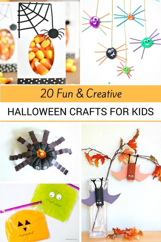 20 Fun and Creative Halloween Crafts Craft, Halloween ideas and - halloween decorations for kids party