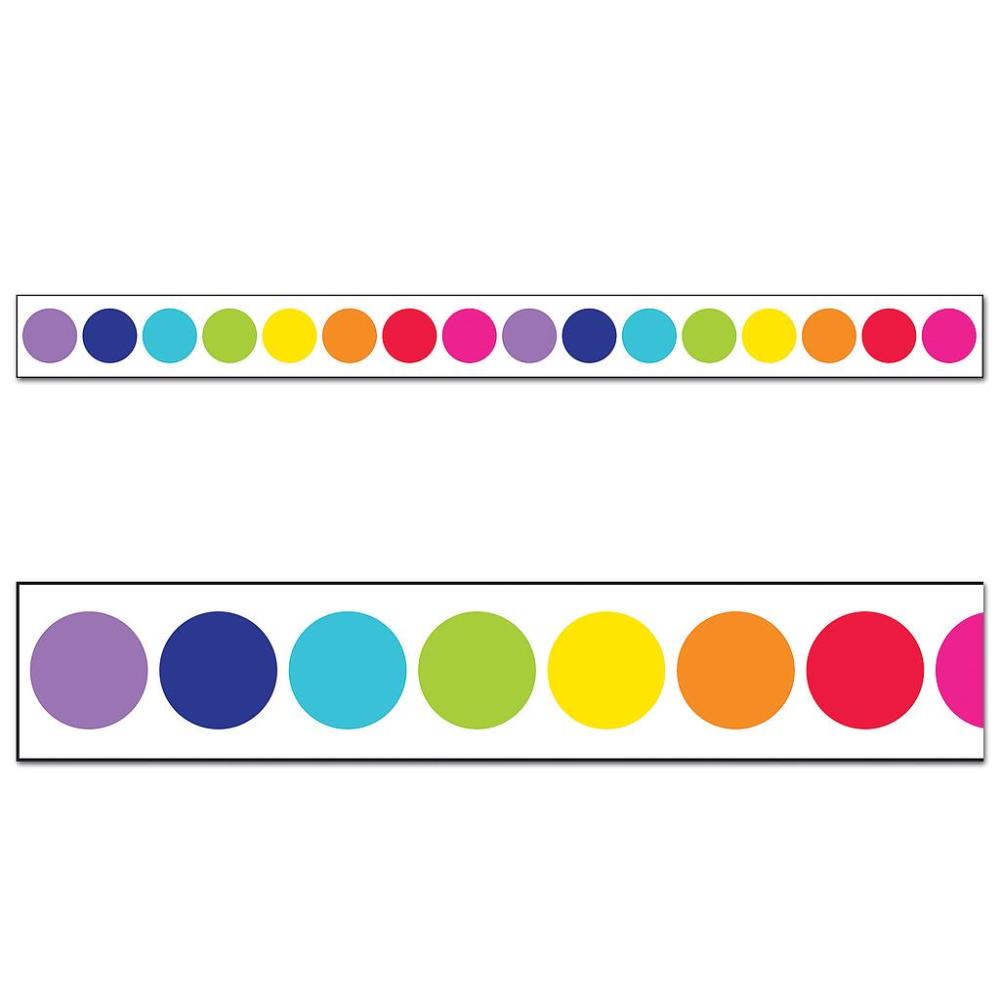 Rainbow Big Dots Straight Borders Classroom Themes Schoolgirl Style Classroom Bulletin Board Display