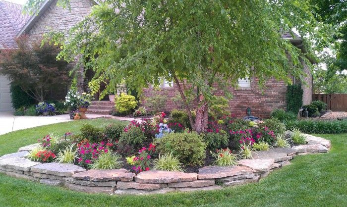 Landscaping ideas with circular driveway ideer for Stone island bedding