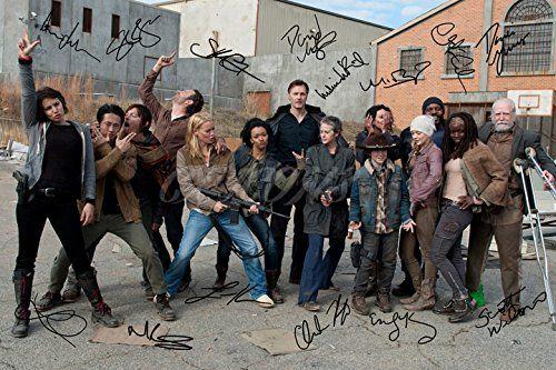 The Walking Dead Cast X14 Signiertes Foto Druck No 2 Super