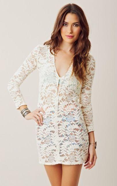 58849c5dd5a The Dahl Short Lace V Neck Dress by Alexis  fashion  dress  lace  white lace   short dress  V neck dress