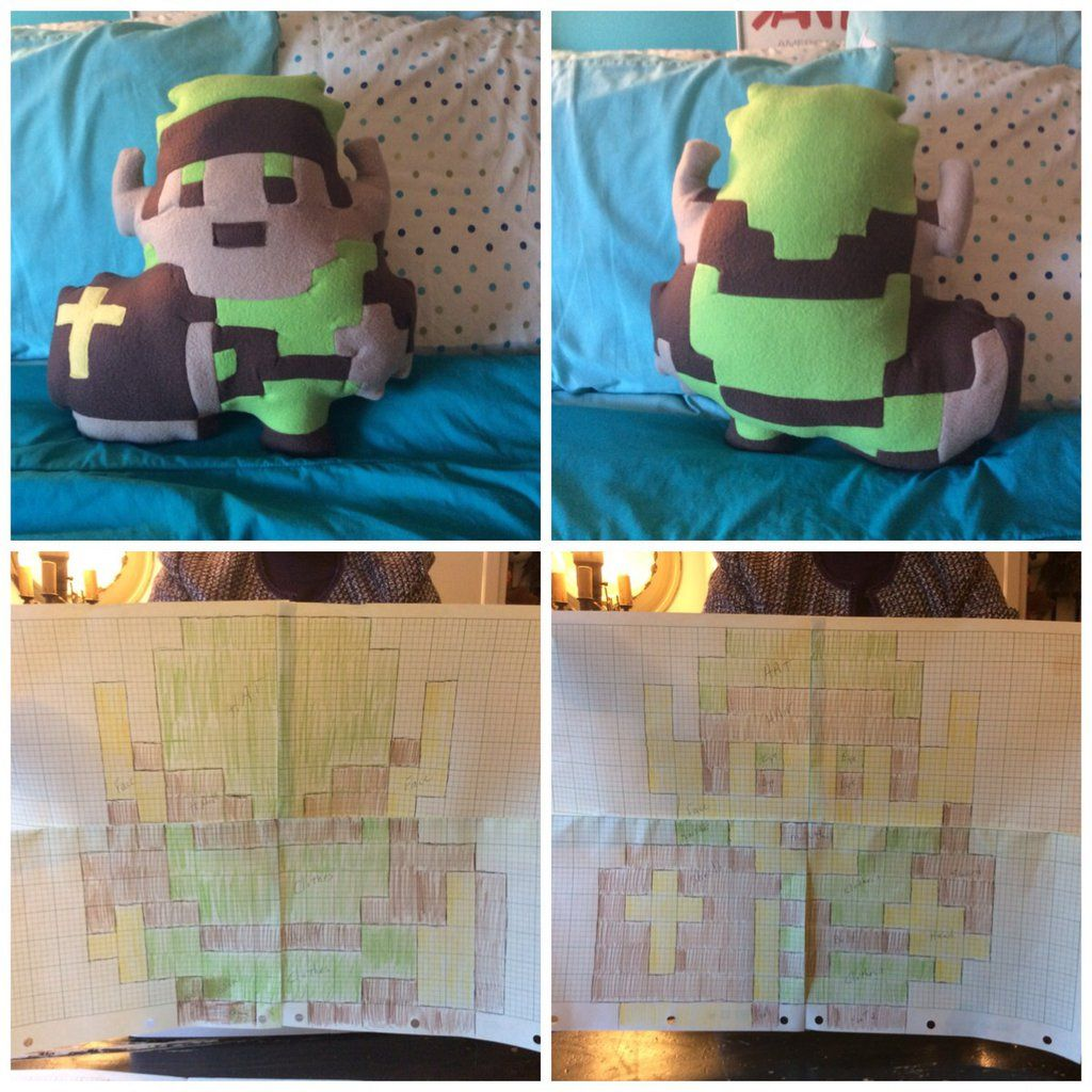 This is a bit plush i made using a graph that my sewing teacher