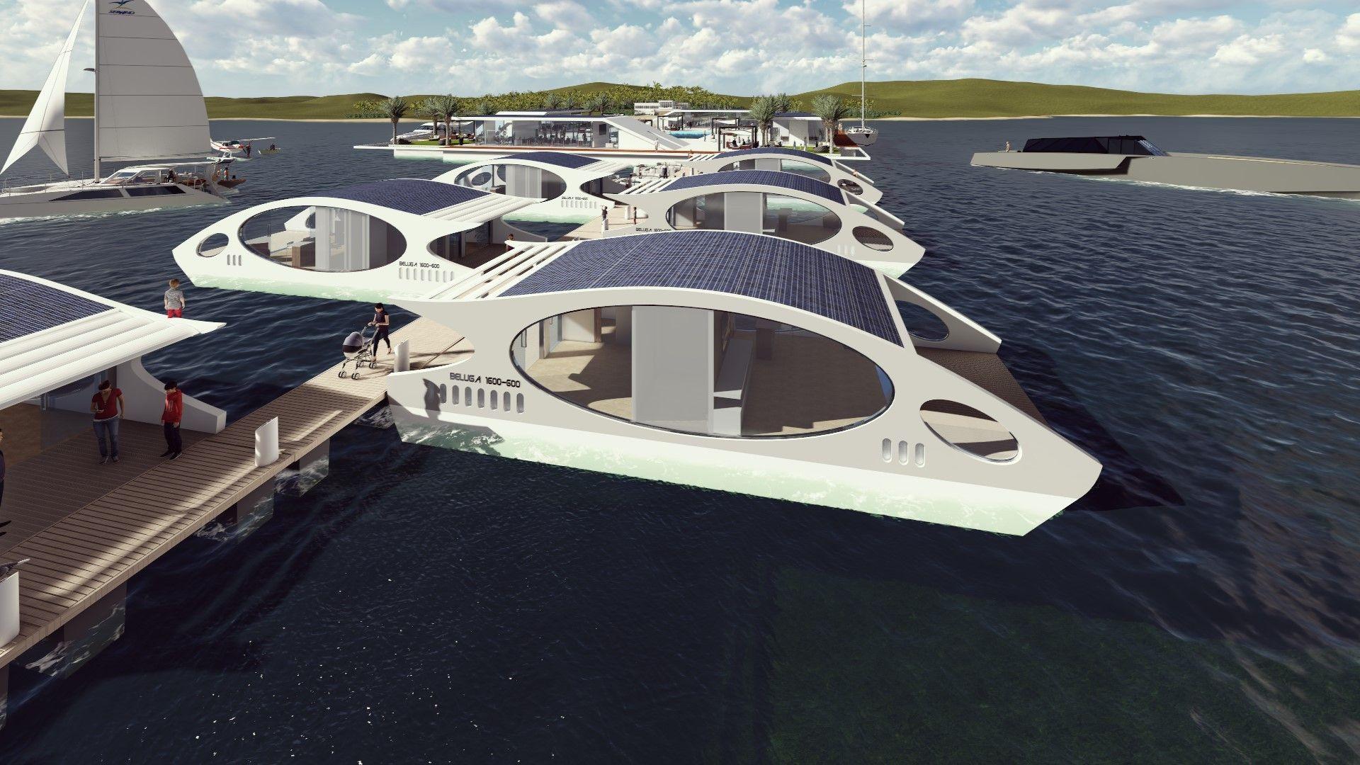 Superb Floating Hotel Part - 14: Beluga Floating Hotel Room Designed By Amédée Santalo For Triton Enterprise