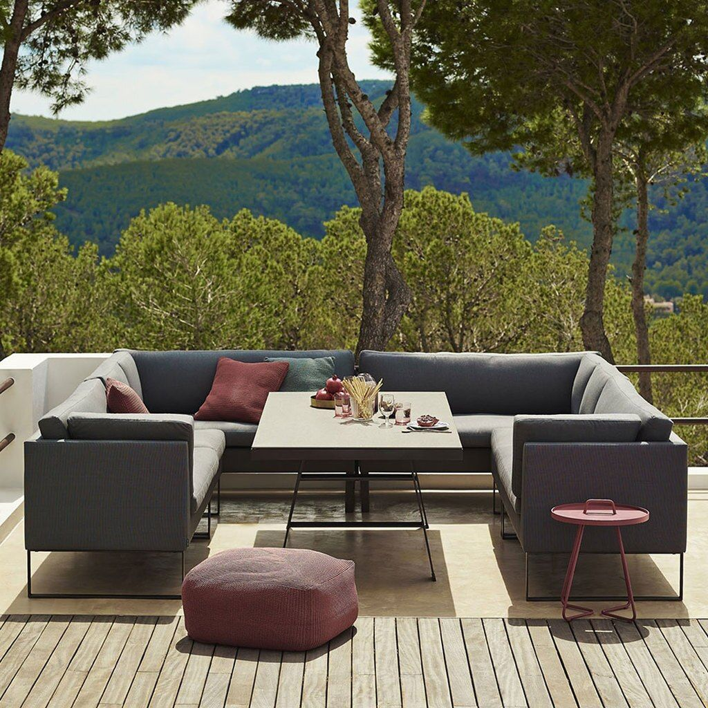 The Flex Collection By Cane Line Is A Multi Functional Modular System That Is Perfect For Outdoor Use T In 2020 Outdoor Furniture Design Furniture Design Modular Sofa