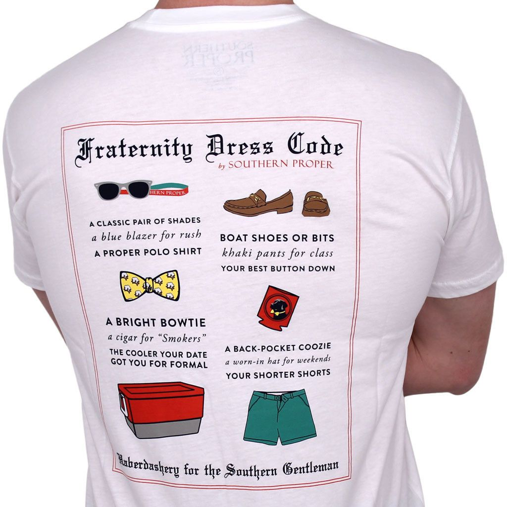 fraternity dress code short sleeve in white by southern proper fraternity dress code short sleeve in white by southern proper 0 to 50