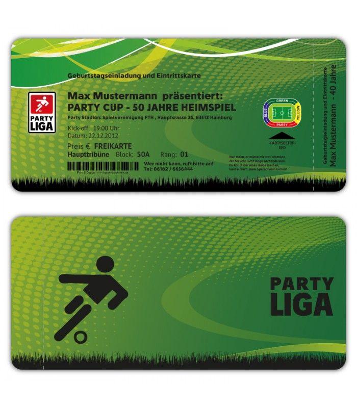 einladungskarten geburtstag als fussball ticket