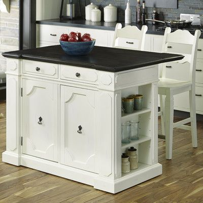Home Styles Fiesta Kitchen Island Set Top Material Wood