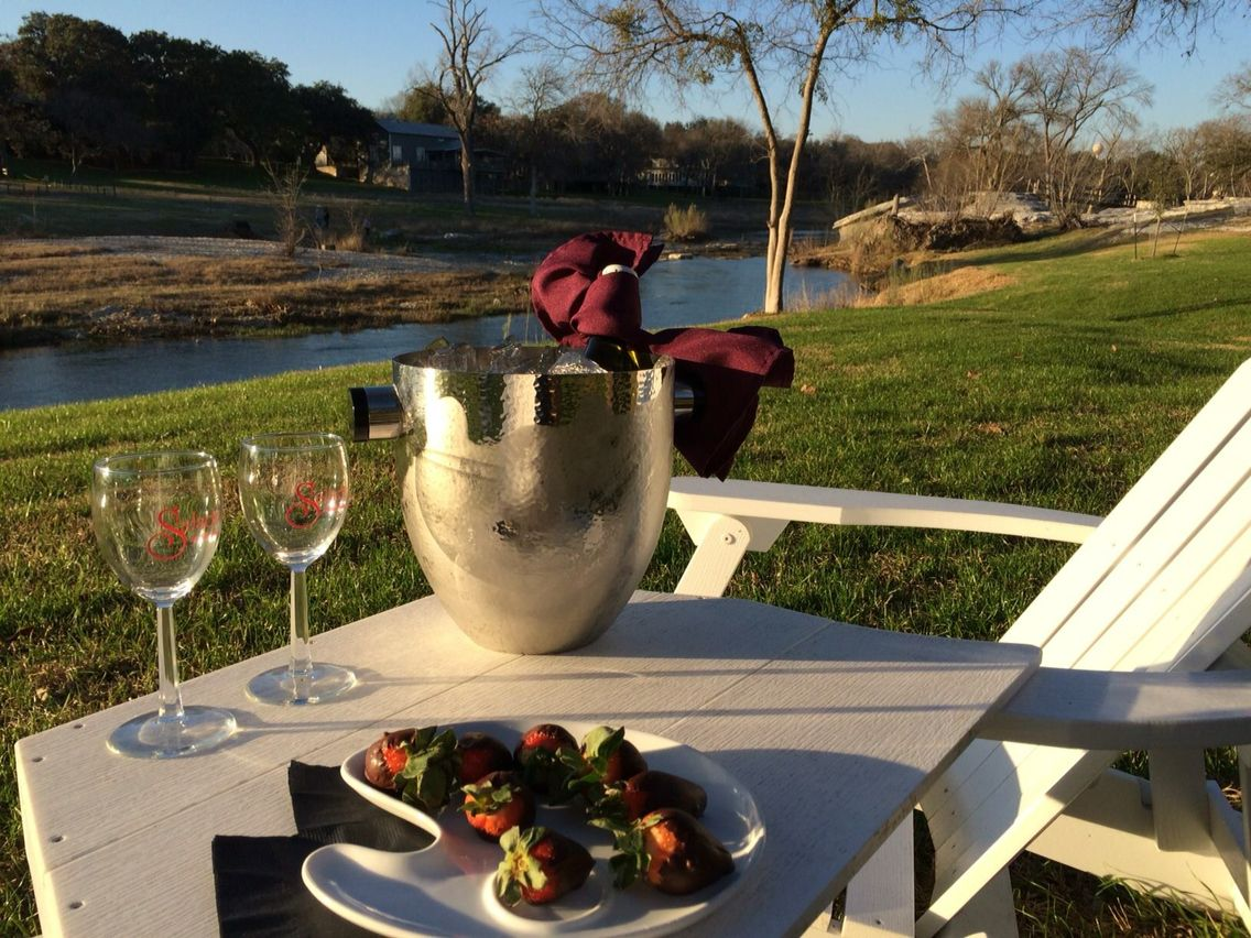 Inn on the Creek. Enjoy a bottle of wine and some chocolate by the creek