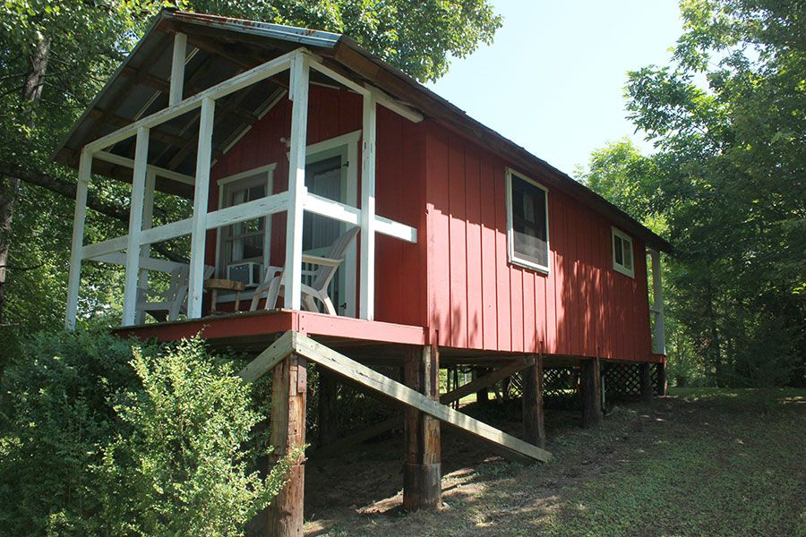 The back porch, overlooking the French Broad River