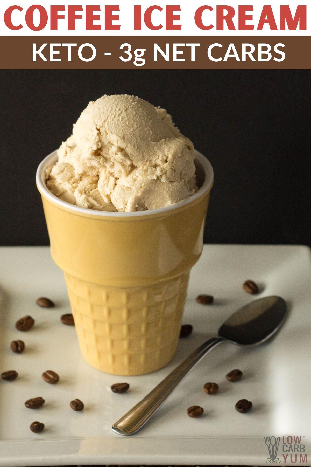 Keto Coffee Ice Cream Recipe No Eggs In 2020 Keto Coffee Recipe Coffee Ice Cream Low Carb Recipes Dessert