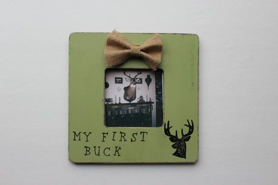 First Buck Picture Frame Deer Photo Frame Rustic By Myrusticplace