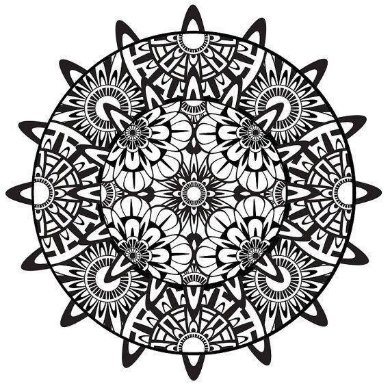 Mandala Coloring Page Mandala Printable Coloring Page