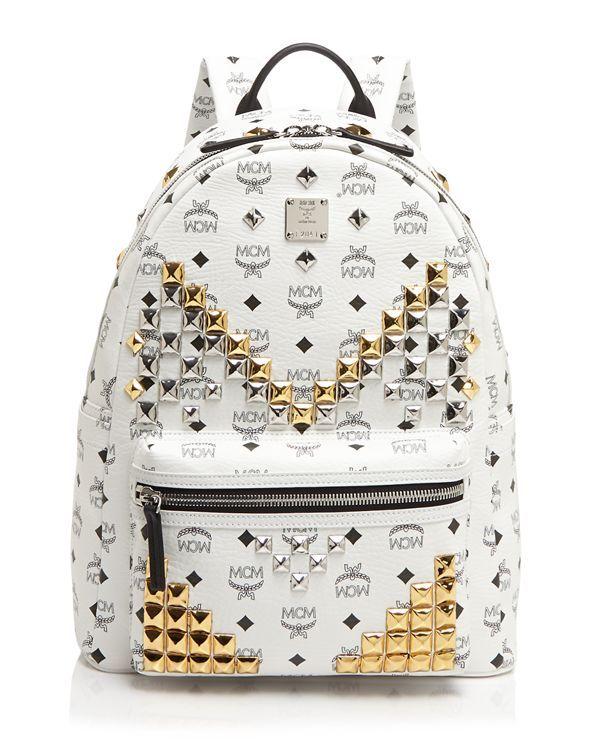 Mcm Backpack : Medium Stark White
