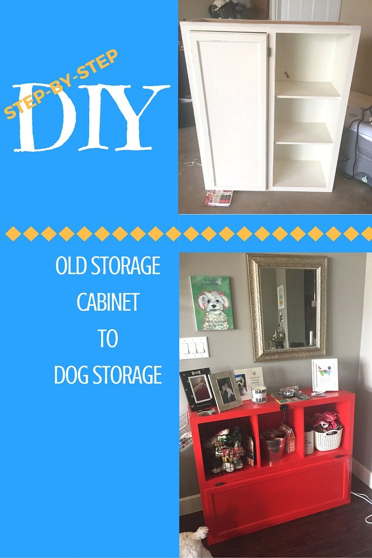 Diy Turn An Old Cabinet Into A Storage Unit For Your Dog Habitat For Humanity Restore Old Cabinets Old Kitchen Cabinets Dog Storage