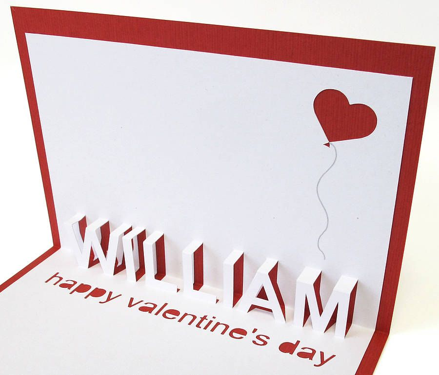 Personalised Pop Up Valentine Card – Pop Up Valentines Day Card