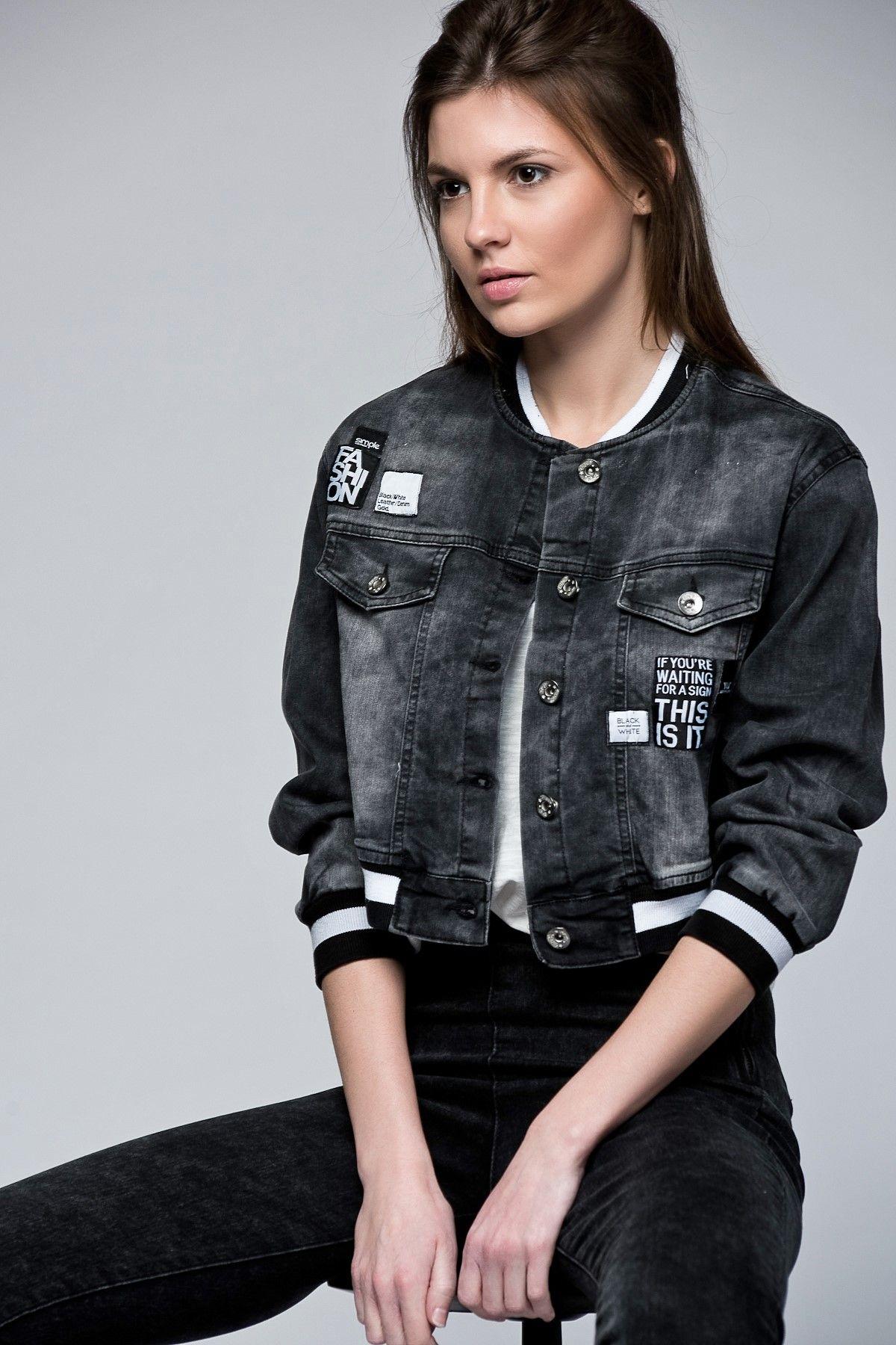 Fume Kot Ceket 10089 Kot Ceket Trend Elbiseler Jean Ceket