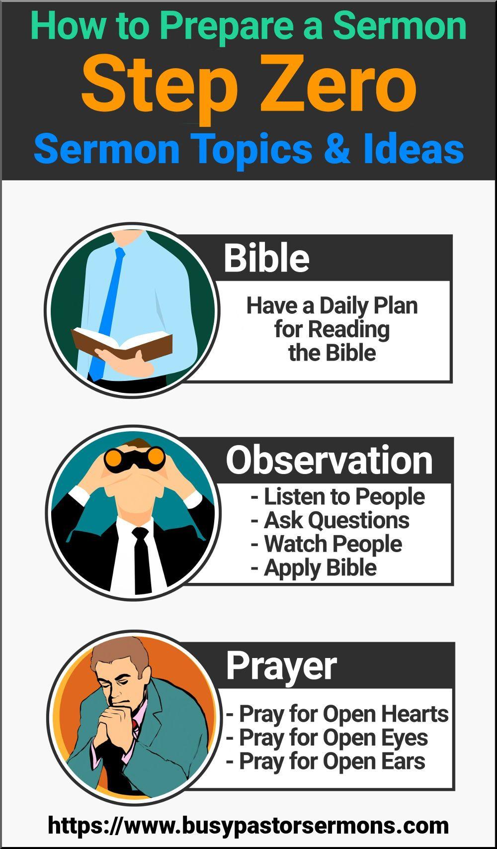 How to Prepare a Sermon Step Zero Bible topics, Bible